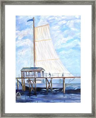 Hackney's Sailboat Framed Print