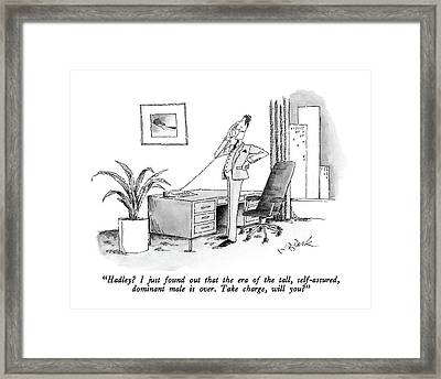 Hadley?  I Just Found Out That The Era Framed Print by W.B. Park