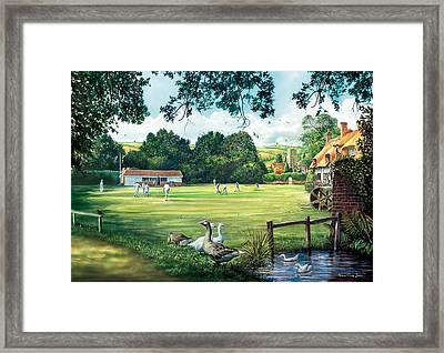 Hadlow Cricket Club Framed Print