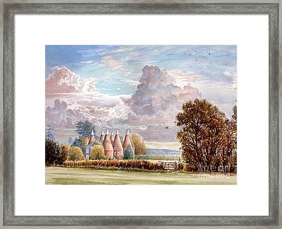 Hadlow Stand Of Oasts Framed Print