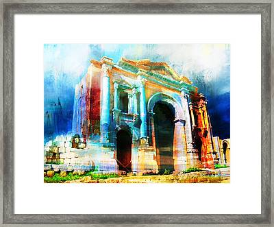 Hadrians Arch Framed Print by Catf