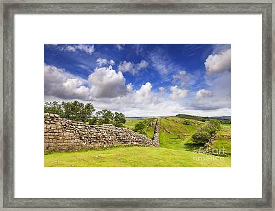 Hadrians Wall Framed Print by Colin and Linda McKie