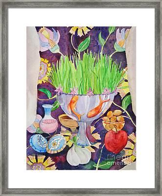 Haft Seen Framed Print by Shirin Shahram Badie