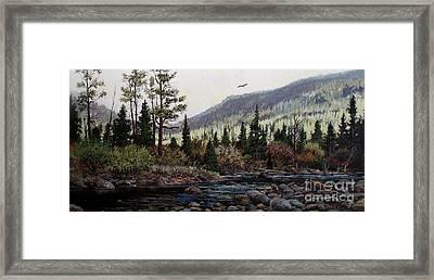 Hagerman Peak Framed Print by W  Scott Fenton