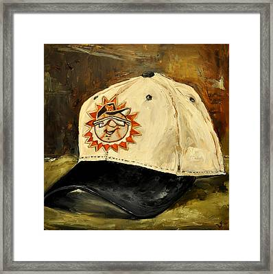Framed Print featuring the painting Hagerstown Suns by Lindsay Frost