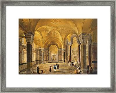 Haghia Sophia, Plate 12 The Meme Framed Print by Gaspard Fossati
