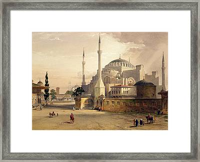Haghia Sophia, Plate 17 Exterior View Framed Print by Gaspard Fossati