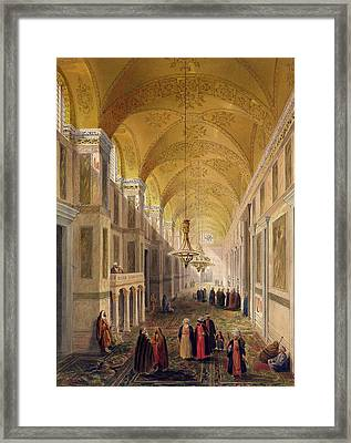 Haghia Sophia, Plate 2 The Narthex Framed Print by Gaspard Fossati