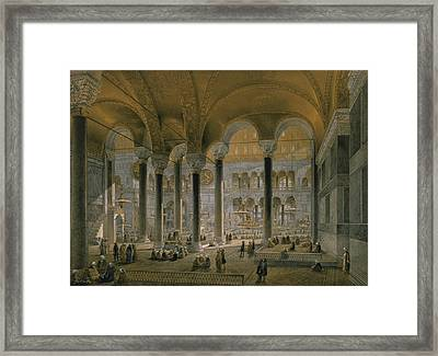 Haghia Sophia, Plate 6 The North Nave Framed Print by Gaspard Fossati
