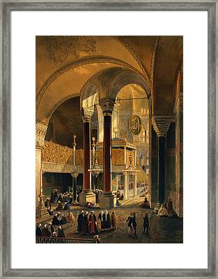 Haghia Sophia, Plate 8 The Imperial Framed Print by Gaspard Fossati