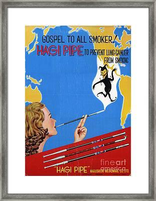 Hagi Pipe Health Fraud Framed Print
