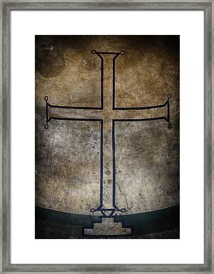 Hagia Irene Cross Framed Print