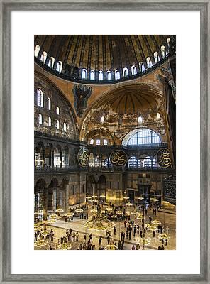 Hagia Sofia Interior 30 Framed Print