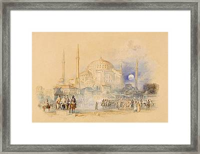Hagia Sofia Framed Print by Joseph Mallord William Turner