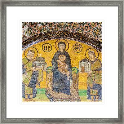 Hagia Sofia Mosaic 03 Framed Print by Antony McAulay