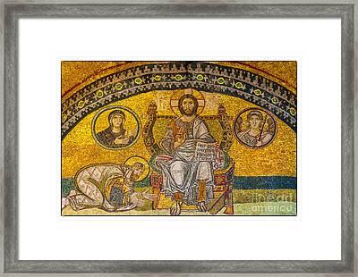 Hagia Sofia Mosaic 04 Framed Print by Antony McAulay