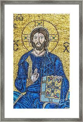 Hagia Sofia Mosaic 08 Framed Print by Antony McAulay