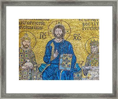 Hagia Sofia Mosaic 09 Framed Print by Antony McAulay