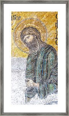 Hagia Sofia Mosaic 12 Framed Print by Antony McAulay