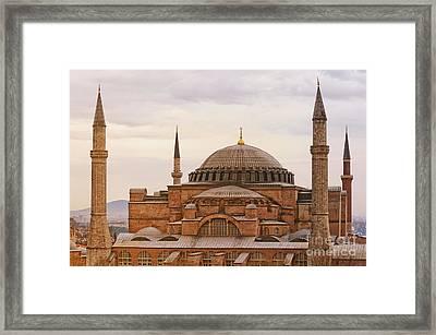 Hagia Sophia 06 Framed Print by Antony McAulay