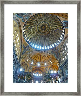 Framed Print featuring the photograph Hagia Sophia 1 - Istanbul by Cheryl Del Toro