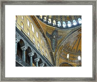 Framed Print featuring the photograph Hagia Sophia 2 - Istanbul by Cheryl Del Toro