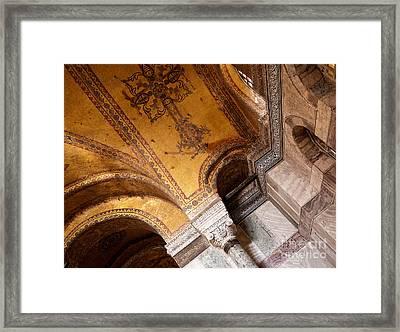 Hagia Sophia Arch Mosaics Framed Print by Rick Piper Photography