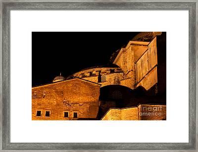 Hagia Sophia At Night Framed Print by Rick Piper Photography