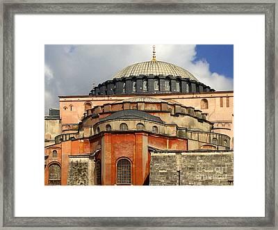 Hagia Sophia Ayasofya Meydani Byzantine Basilica Later Imperial Mosque Istanbul Turkey Framed Print by Ralph A  Ledergerber-Photography
