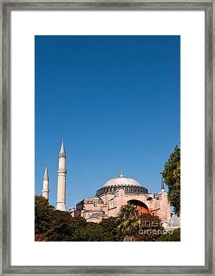 Hagia Sophia Blue Sky 02 Framed Print by Rick Piper Photography