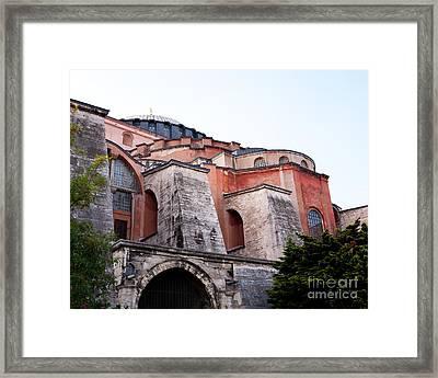 Hagia Sophia Buttresses Framed Print by Rick Piper Photography