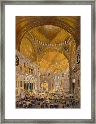 Hagia Sophia, Constantinople, 1852 Framed Print by Gaspard Fossati