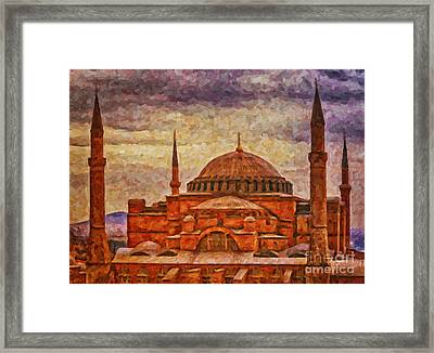 Hagia Sophia Digital Painting Framed Print