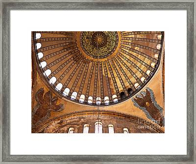 Hagia Sophia Dome 02 Framed Print by Rick Piper Photography