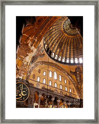 Hagia Sophia Dome 03 Framed Print by Rick Piper Photography