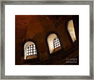 Hagia Sophia Dome Windows Framed Print by Rick Piper Photography
