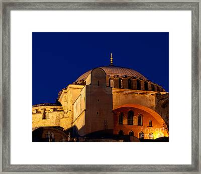 Hagia Sophia Evening Framed Print by Rick Piper Photography