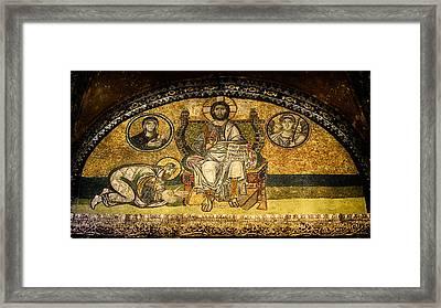 Hagia Sophia Imperial Gate Mosaic Framed Print by Stephen Stookey
