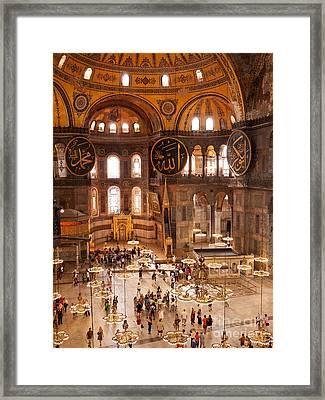 Hagia Sophia Interior 04 Framed Print by Rick Piper Photography