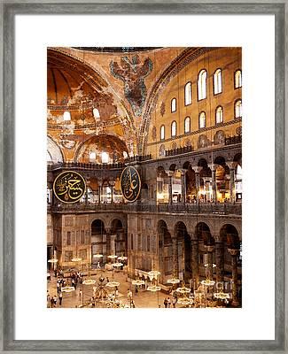 Hagia Sophia Interior 05 Framed Print by Rick Piper Photography
