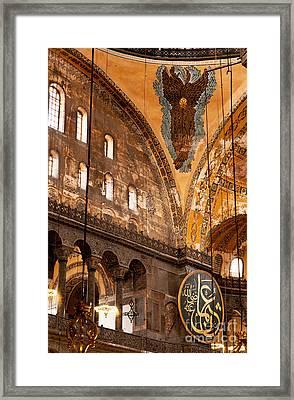 Hagia Sophia Interior 07 Framed Print by Rick Piper Photography
