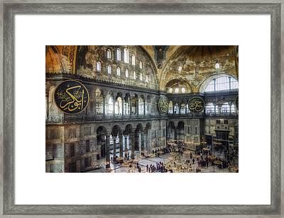 Hagia Sophia Interior Framed Print by Joan Carroll