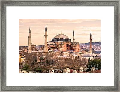 Hagia Sophia Mosque - Istanbul Framed Print