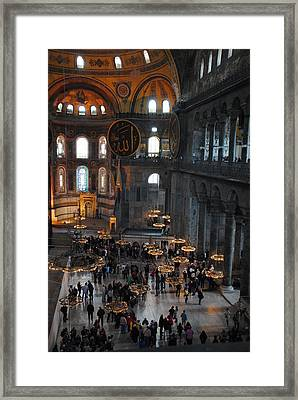Hagia Sophia Panorama Framed Print by Jacqueline M Lewis