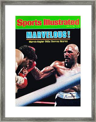 Hagler Vs Hearns Framed Print
