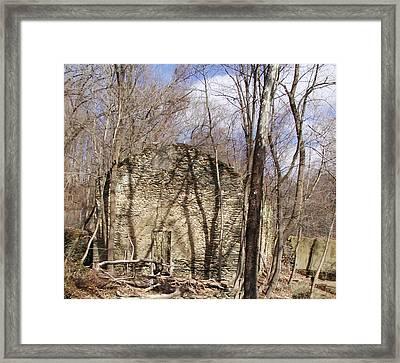 Hagy's Paper Mill Ruin  Framed Print