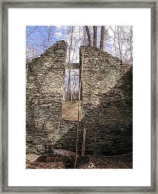 Hagy's Paper Mill Ruin - Interior Framed Print