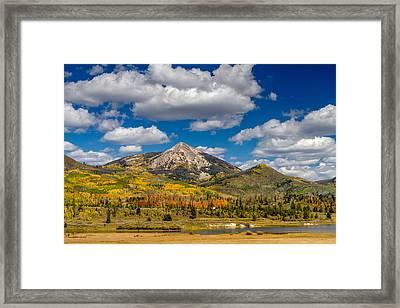 Hahn Peak And Steamboat Lake State Park Framed Print