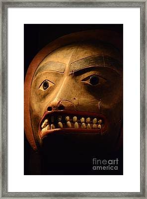 Tlingit Mask Framed Print