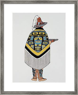 Haida Native American, 1900 Framed Print by Granger